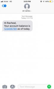 customer sms notification