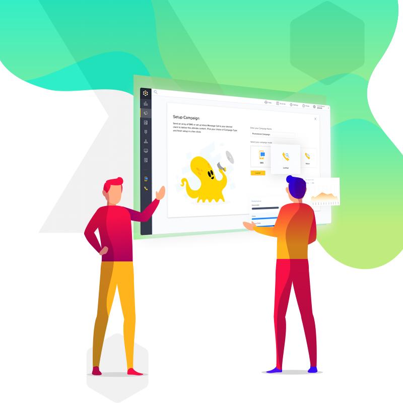 Enterprises can customize each customer interaction through Kaleyra Hexa