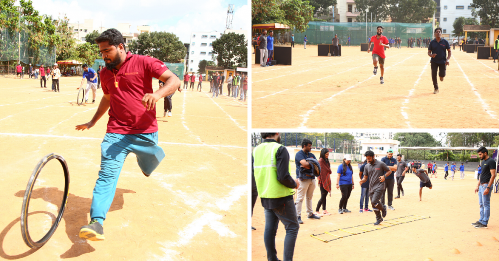 Our team members showcasing some excellent skills in athletics