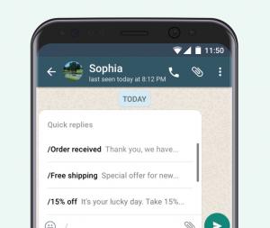 WhatsApp e-commerce integration - Quick Replies