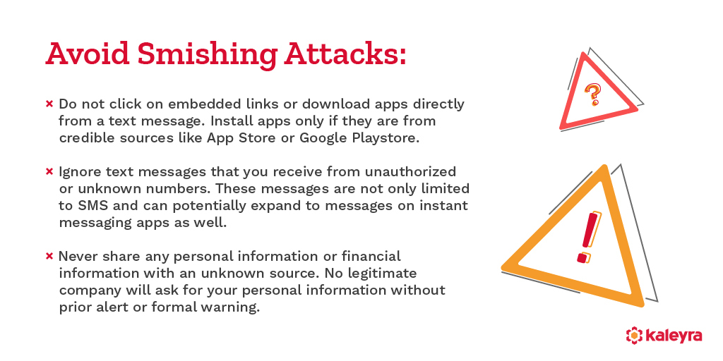 How To Avoid SMS Phishing Attacks