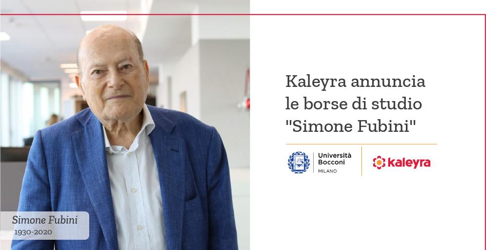 Simone Fubini Scholarship
